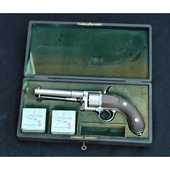 COFFRET REVOLVER DEVISME Calibre 12mm Galand- FR II nd EMPIRE