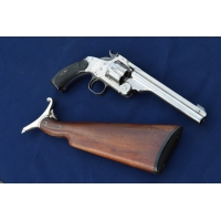 REVOLVER SMITH & WESSON N°3 Target 1er Mle + Crosse Cal 44 russian - US XIXè