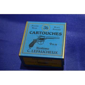 BOITE DE 36 MUNITIONS DE RECHARGEMENT - CALIBRE 9mm A BROCHE
