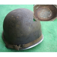 RARE CASQUE M1 A1 1er type CAMMOUFLE du 4e BATILLON 1er RCA ? US 2nd GM