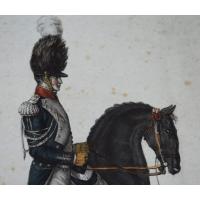 BELLE GRAVURE DE HORACE VERNET époque Premier Empire Gendarme d Elite