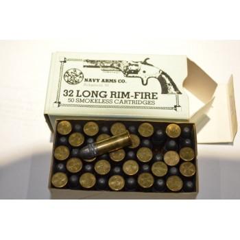 Boite carton de 50 Munitions 32 RF longue Annulaire / Rim Fire - Fab. Brézilienne année 70