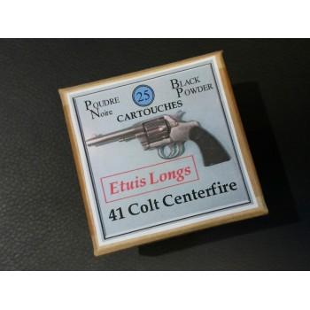 CALIBRE 41LC Boîte de 25 cartouches Poudre Noire Munitions PN
