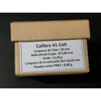 CALIBRE 41LC Boîte de 25 cartouches Poudre Noire