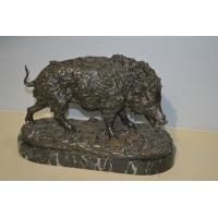 BRONZE ANIMALIER SANGLIER PAR FRATIN - France XIXe