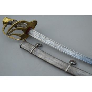 SABRE D'ENFANT 1822 Officier Cavalerie Attribué à MAURICE MEYER Daté Klingenthal Février 1868 - FR XIXè