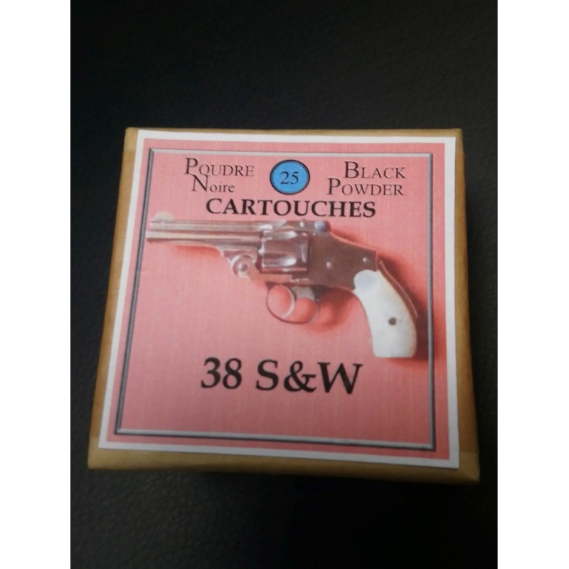 CALIBRE 38 SMITH & WESSON BOITE DE CARTOUCHES MUNITIONS DE RECHARGEMENT PN