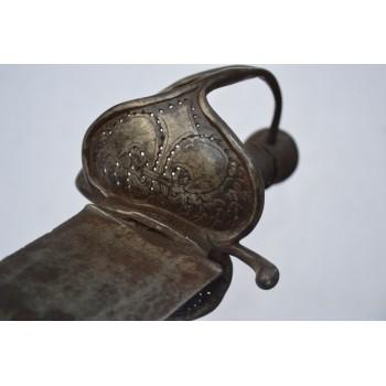 SABRE DE BORD WALLONNE VICE AMIRAL DES GALERES DU ROI aux Armes de la famille de Ponteves Agoult vers 1680 - FR XVIIè