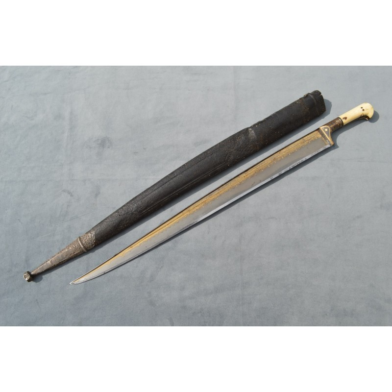 SABRE EPEE KHYBER PASS DAMAS WOOTZ PERSAN - AFGHANISTANT XVIIIè