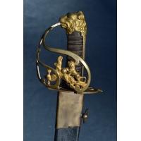 SABRE OFFICIER VOLONTAIRES NATIONAUX Montmorency au Lion grimpant et Coq - France Louis XVI & Révolution