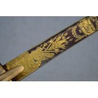 SABRE OFFICIER ARTILLERIE A CHEVAL GARDE IMPERIALE 1807- 1814 France PREMIER EMPIRE