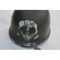 CASQUE US M1A1 3èDI Américaine Démineur Hiver 1944 Vosges