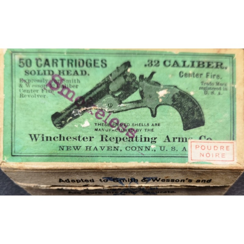 50 Cartouches Collector Winchester Repeating Arms C° Calibre 32 S&W