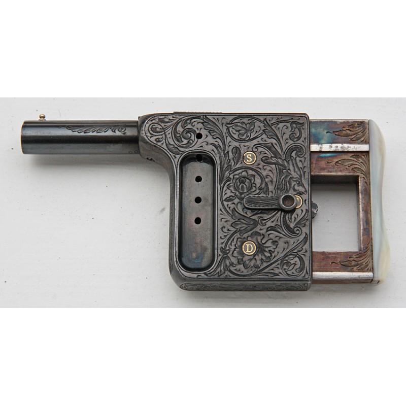 PISTOLET DE LUXE GAULOIS N°4 CALIBRE 8mm - France XIXè