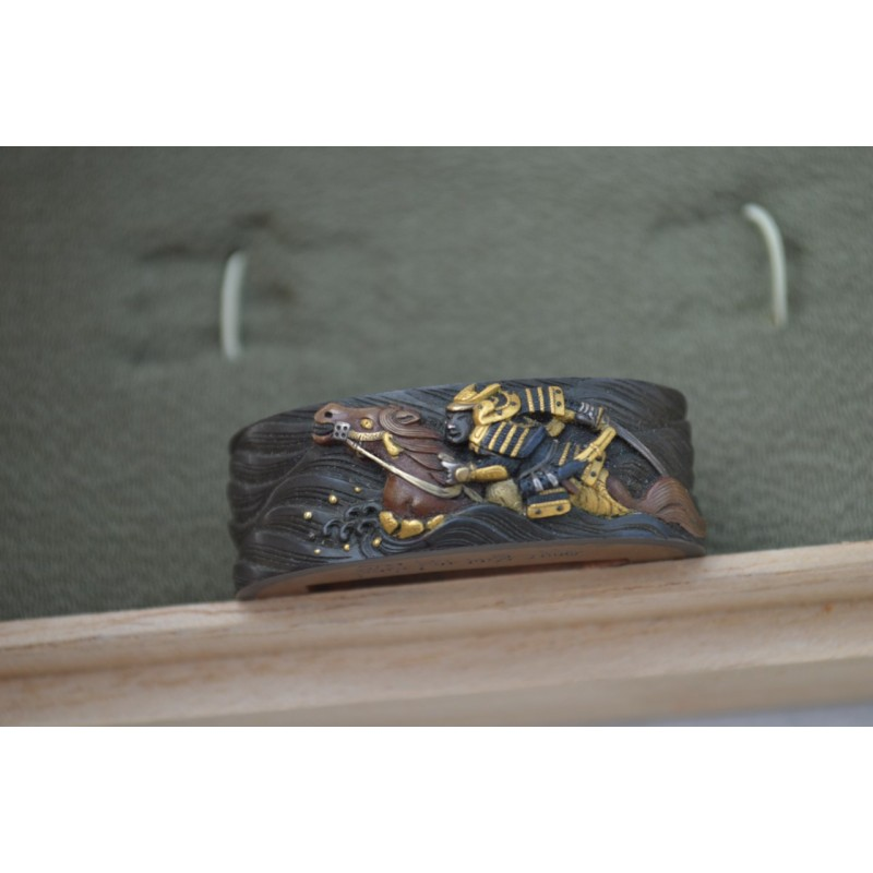 TSUBA FUCHI MENUKI SAMOURAI AU COMBAT signé