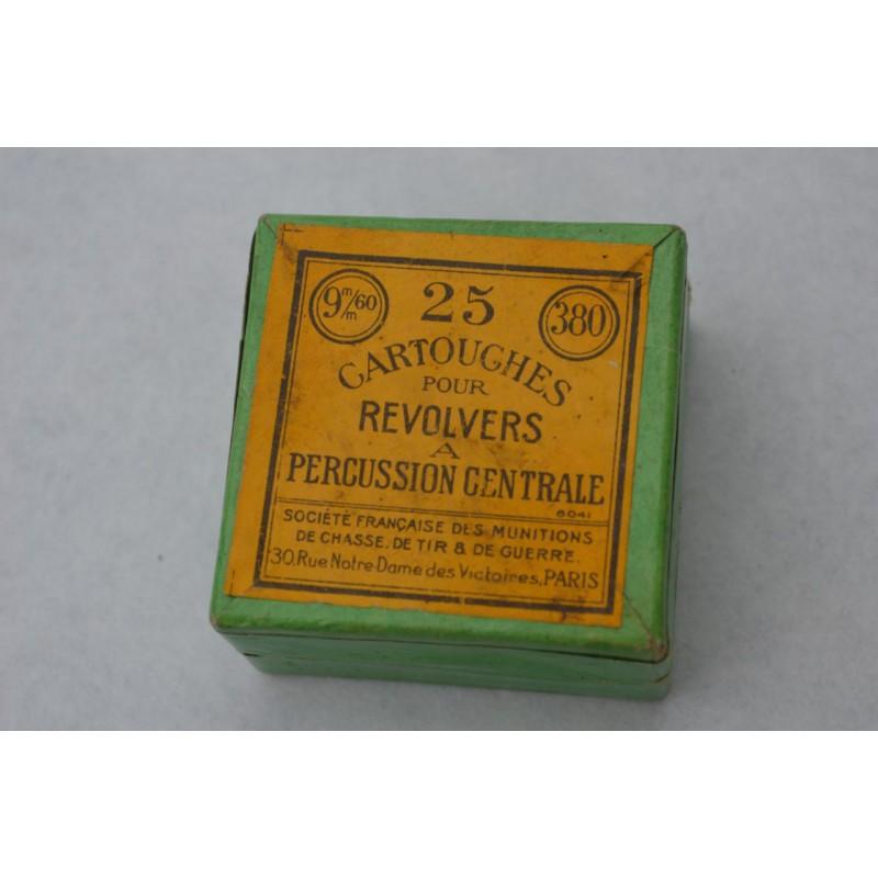 Boite munitions ancienne calibre 380 - France XIXè