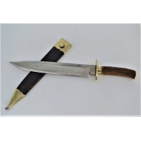BOWIE KNIFE GRAND COUTEAU CHASSE BREVETE IMPORT USA FRANCE XIXè