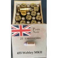 455 Webley Boîtes 25...