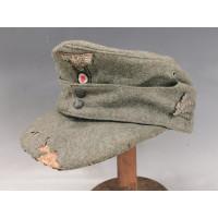 Militaria CASQUETTE HEER Bergmutze Modèle 43 de 1944 T58 troupe chasseur de montagne Originale WW2 - Allemagne seconde Geurre {P