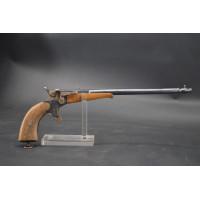 Armes de Poing LONG PISTOLET DE TIR DE SALON type cycliste calibre 6mm flobert - Belgique XIXè {PRODUCT_REFERENCE} - 1