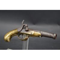 Armes de Poing PISTOLET DE POCHE OFFICIER DE MARIN en LAITON à Percussion vers 1820 - France XIXè {PRODUCT_REFERENCE} - 1