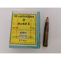 Rechargement Munitions BOITE 10 MUNITIONS NEROXIN TCHEQUE CALIBRE 8 X 64 S CARTOUCHES NEUVES ANNEES 80 {PRODUCT_REFERENCE} - 2