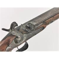 Armes de Poing DEVISME PISTOLET DE DUEL à PERCUSSION Calibre 12mm vers 1840 fini par SOTIAU Fils à Metz- France XIXè {PRODUCT_RE