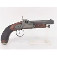 Armes de Poing PISTOLET A PERCUSSION D'OFFICIER vers 1840 DAMAS Rayures Cheveux - FRANCE XIXè {PRODUCT_REFERENCE} - 1