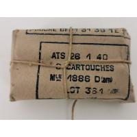 Rechargement PN PAQUET MUNITIONS 8mm LEBEL 1886 modèle 1886 D (am) de 1940 8x51R - FRANCE seconde guerre mondiale {PRODUCT_REFE