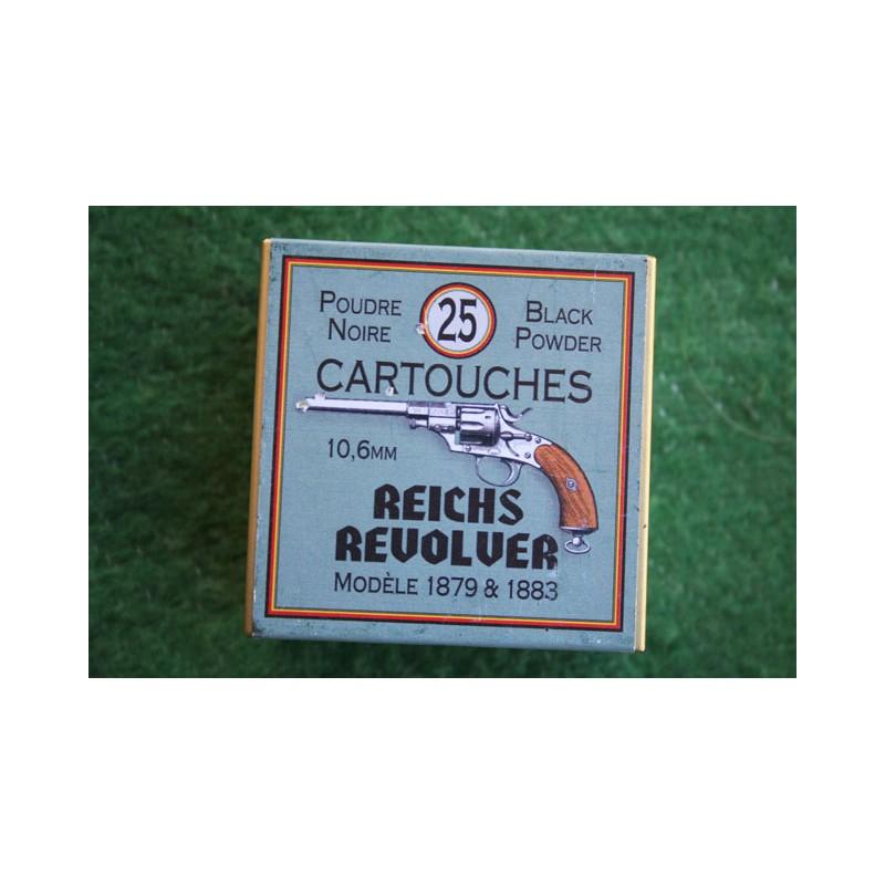 BOITE DE MUNITIONS DE RECHARGEMENT - CALIBRE 10.6mm REICH REVOVLER