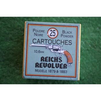 BOITE DE MUNITIONS DE RECHARGEMENT - CALIBRE 10.6mm REICH REVOLVER
