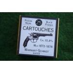 BOITE DE MUNITIONS DE RECHARGEMENT - CALIBRE 10.4mm SUISSE Mle 1872 1878
