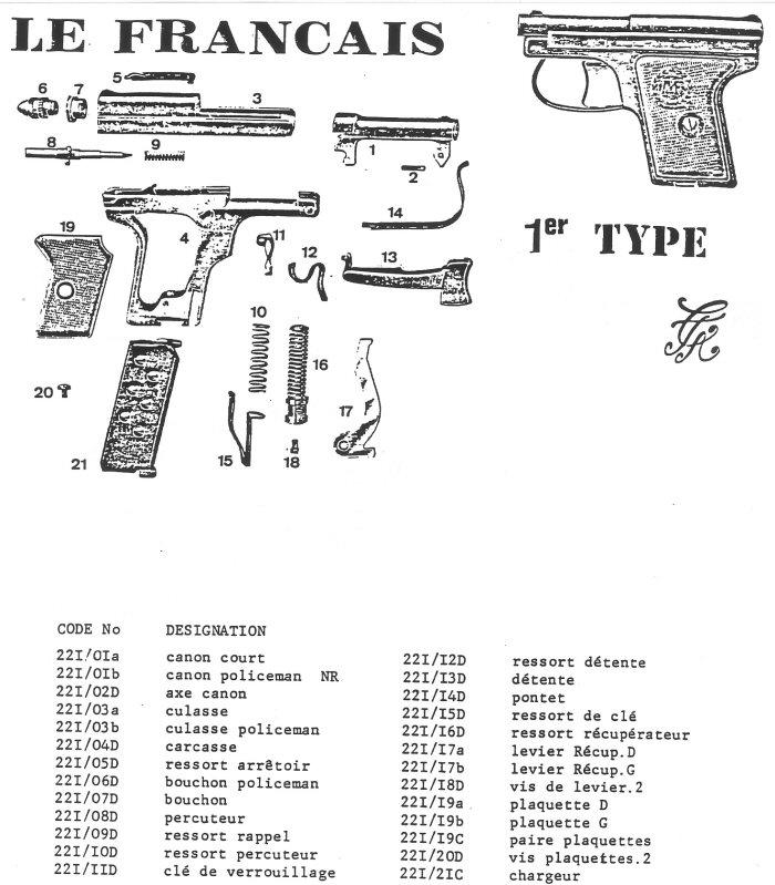 Pistolet Le Français 1er Type