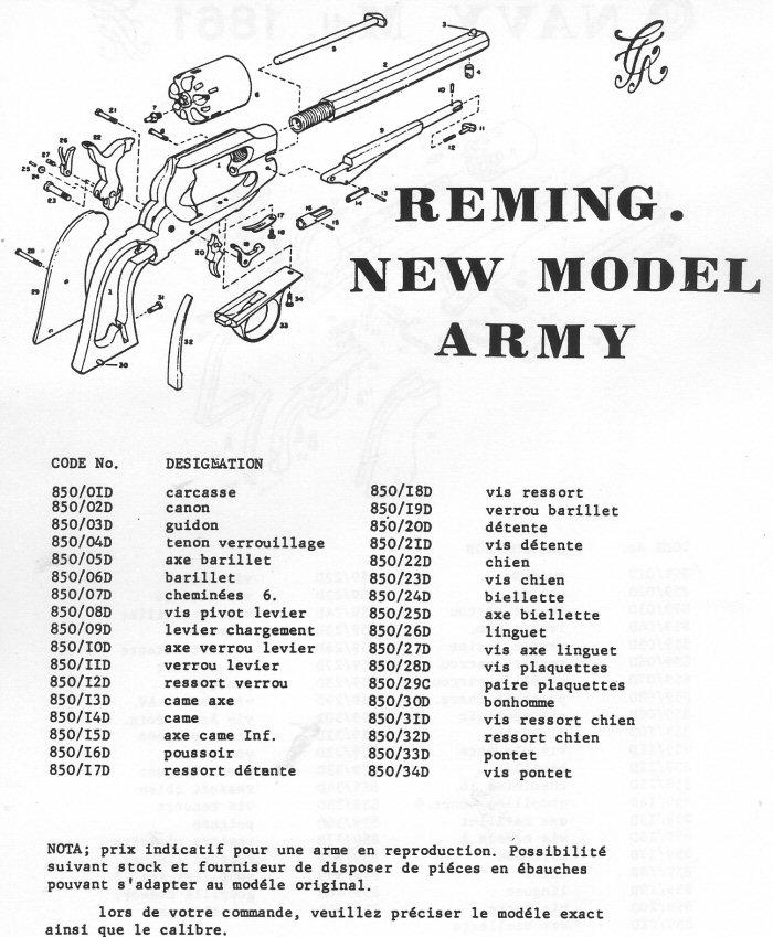 Revolver Remington new mdl Army